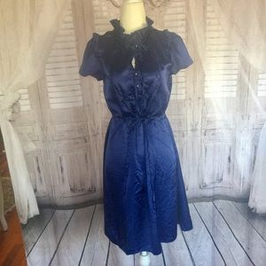 Marc by Marc Jacobs Blue Ruffled Dress-4